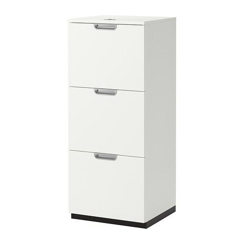 Galant file cabinet white ikea for Meuble classeur suspendu