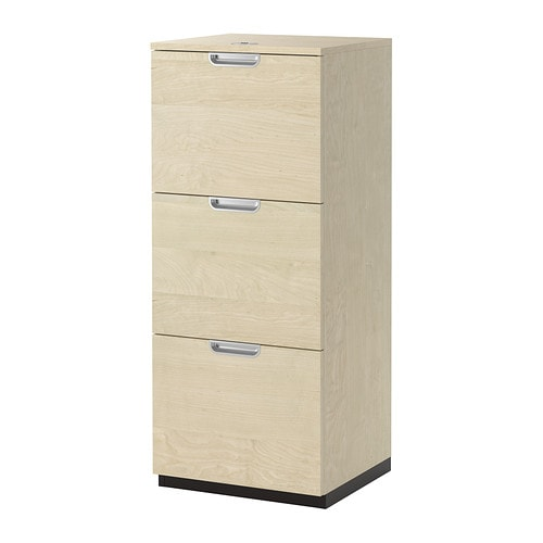 galant file cabinet birch veneer ikea. Black Bedroom Furniture Sets. Home Design Ideas