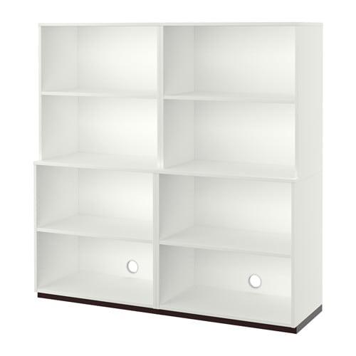 GALANT Open storage combination, white white 63x63