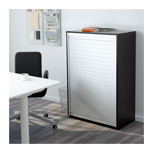Galant Roll-Front Cabinet - Black-Brown - Ikea