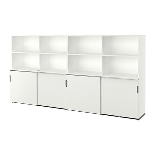Ikea Galant galant storage combination w sliding doors white ikea