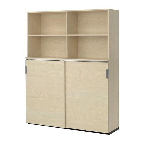 GALANT Storage Combination W Sliding Doors   Black Brown   IKEA