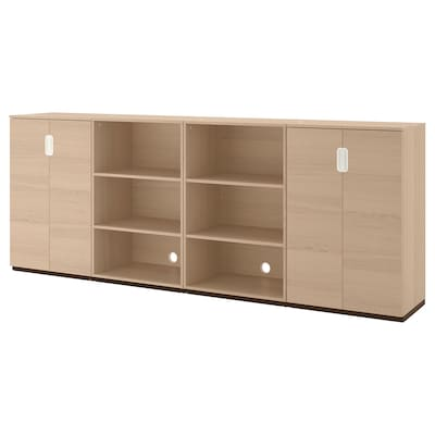 GALANT Storage combination, white stained oak veneer, 126x47 1/4 ""