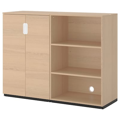 GALANT Storage combination, white stained oak veneer, 63x47 1/4 ""