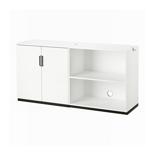 Galant storage combination white ikea for Meuble bas portes coulissantes