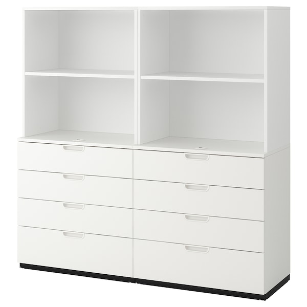 """GALANT storage combination with drawers white 63 """" 17 3/4 """" 63 """" 66 lb 2 oz"""