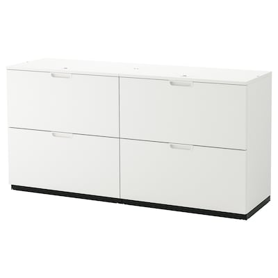 GALANT Storage combination with filing, white, 63x31 1/2 ""
