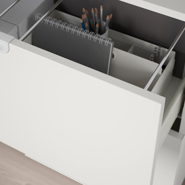 """GALANT Storage combination with filing, white, 63x31 1/2 """""""
