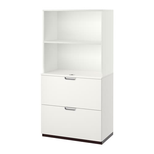 Ikea Trofast Wooden Shelves ~ GALANT Storage combination with filing  white, 31 1 2×63    IKEA