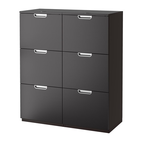 Galant storage combination with filing black brown ikea - Ikea material oficina ...