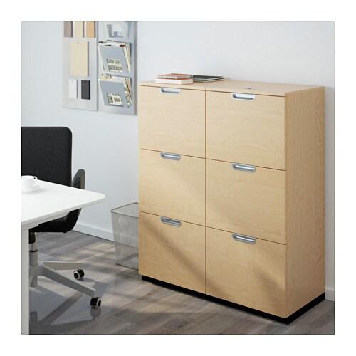 GALANT Storage Combination With Filing   Birch Veneer   IKEA