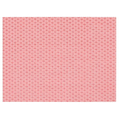 """GALLRA Place mat, red/patterned, 17 ¾x13 """""""
