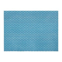 GALLRA place mat, blue, patterned