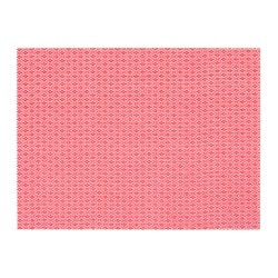 GALLRA place mat, red, patterned