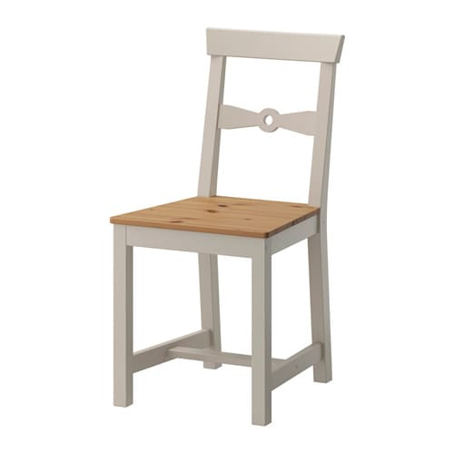 GAMLEBY Chair, light antique stain, gray