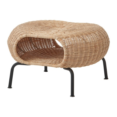 Superieur GAMLEHULT   Ottoman With Storage, Rattan, Anthracite
