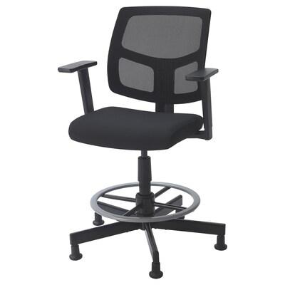 "GARKA swivel chair Vissle black 26 1/8 "" 26 1/8 "" 47 1/4 "" 18 1/8 "" 16 7/8 "" 22 7/8 "" 30 3/4 """