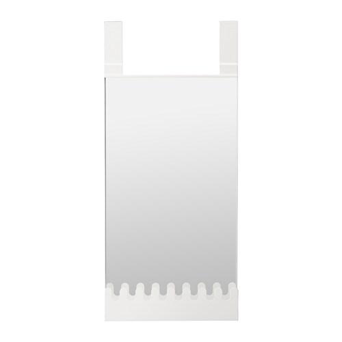 GARNES Over-the-door mirror/hooks & shelf, door hanging white white 15x32 5/8