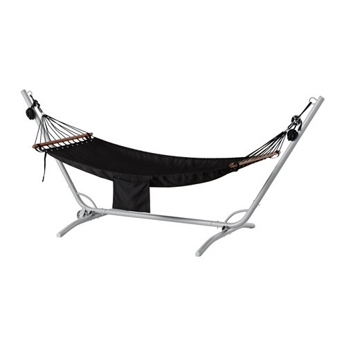g r fred n hammock with stand gray black ikea. Black Bedroom Furniture Sets. Home Design Ideas