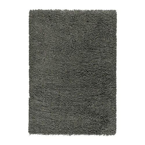GÅSER Rug, high pile, dark gray dark gray 5 ' 7