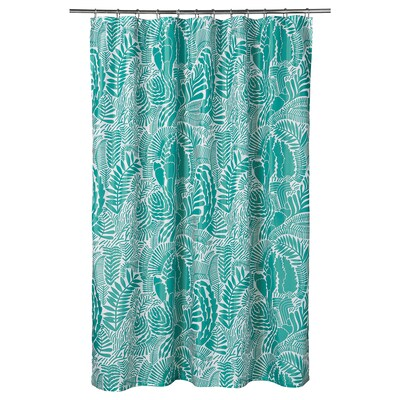 "GATKAMOMILL Shower curtain, turquoise/white, 71x71 """