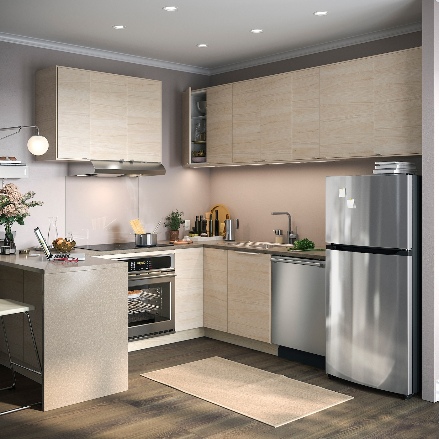 GENOMDRIVA Under cabinet range hood - Stainless steel