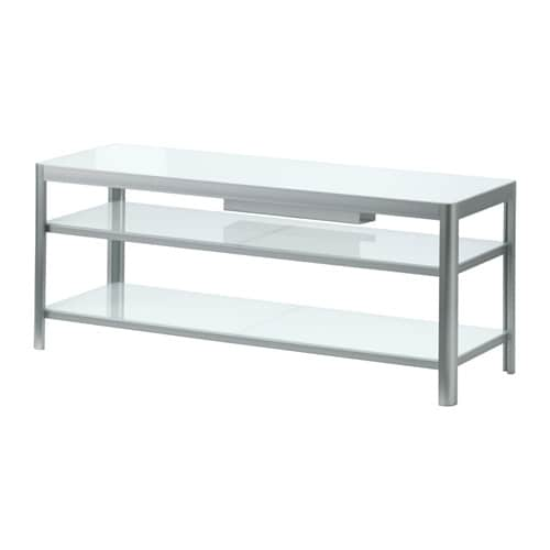 Gettorp tv unit white aluminum ikea - Meuble tv metal ikea ...