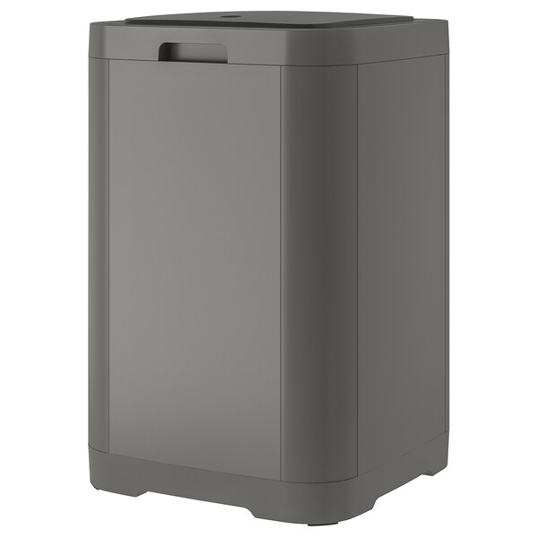 GIGANTISK Touch top trash can, dark gray, 16 gallon