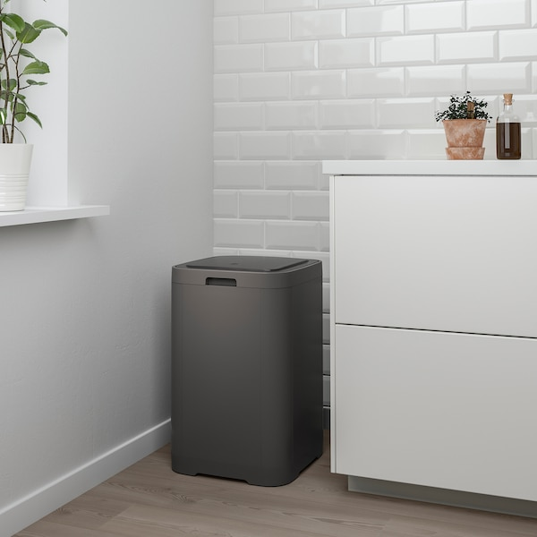 Gigantisk Touch Top Trash Can Dark