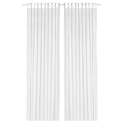 "GJERTRUD sheer curtains, 1 pair white 98 "" 57 "" 1 lb 6 oz 38.97 sq feet 2 pack"