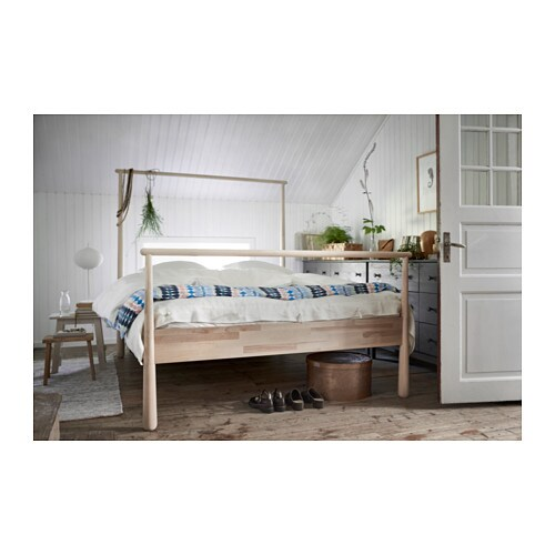 gjra bed frame queen lnset slatted bed base ikea