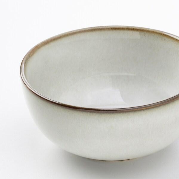 """GLADELIG bowl gray 4 ½ """" 4 pack"""