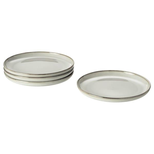 "GLADELIG Side plate, gray, 8 """