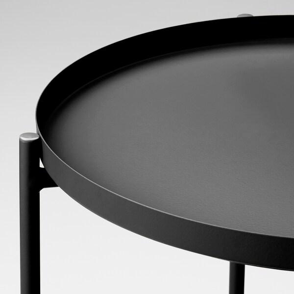 "GLADOM Tray table, black, 17 1/2x20 5/8 """