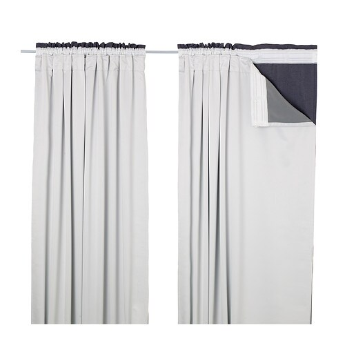 White Curtains black and white curtains ikea : GLANSNÄVA Curtain liners, 1 pair - 56x94