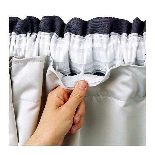Curtains Ideas curtain liner blackout : GLANSNÄVA Curtain liners, 1 pair - 56x94