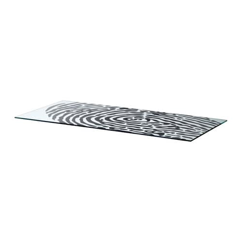 Glasholm table top glass fingerprint pattern ikea for Ikea glass table tops
