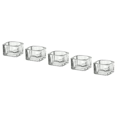 GLASIG Tealight holder, clear glass, 2x2 ""