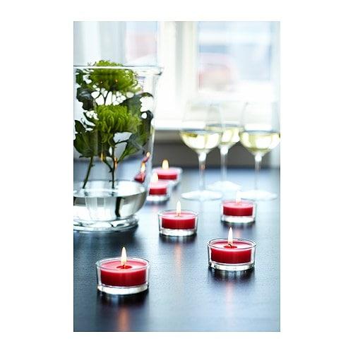 ikea gllimma tea light holders candle holders 3 4 12 pack. Black Bedroom Furniture Sets. Home Design Ideas