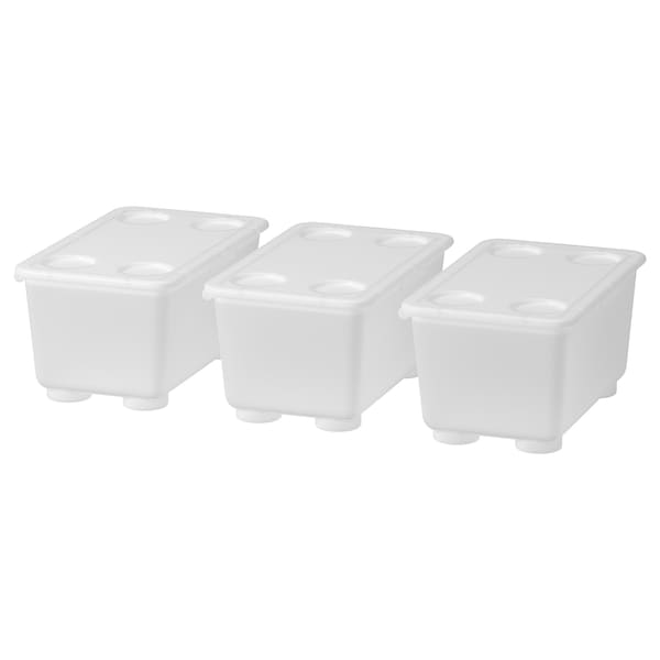 """GLIS Box with lid, clear, 6 ¾x4 """""""