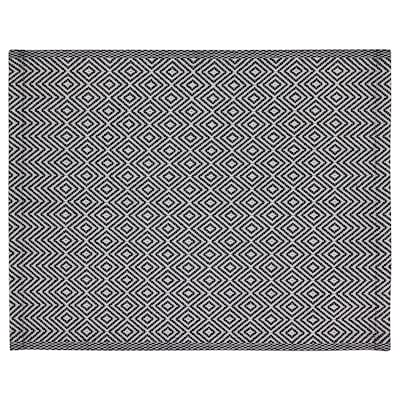 GODDAG Place mat, black/white, 14x18 ""