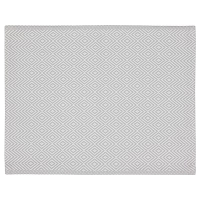 GODDAG Place mat, gray/white, 14x18 ""