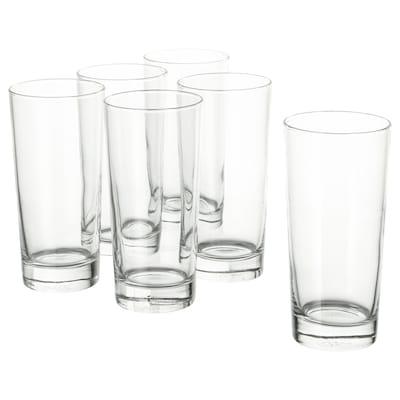 "GODIS glass clear glass 6 "" 14 oz 6 pack"