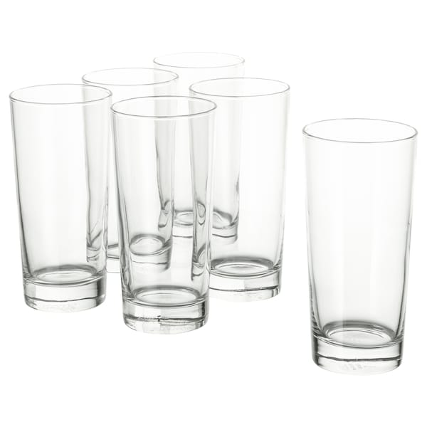 GODIS Glass, clear glass, 14 oz
