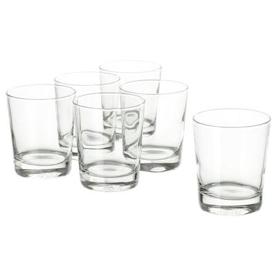 "GODIS glass clear glass 4 "" 8 oz 6 pack"