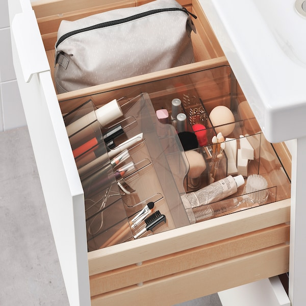 """GODMORGON Box with compartments, smoked, 12 ½x11x4 """""""