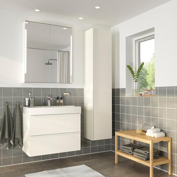 GODMORGON / BRÅVIKEN Bathroom furniture, set of 5 - high