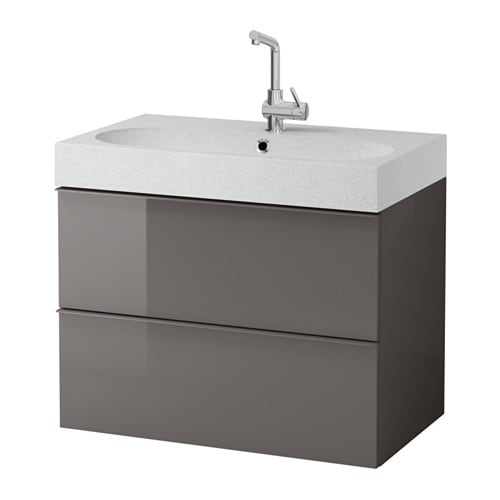 Godmorgon br viken sink cabinet with 2 drawers high for Meuble 60x40