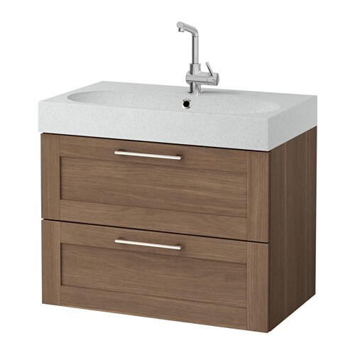 Godmorgon Br Viken Sink Cabinet With 2 Drawers Walnut