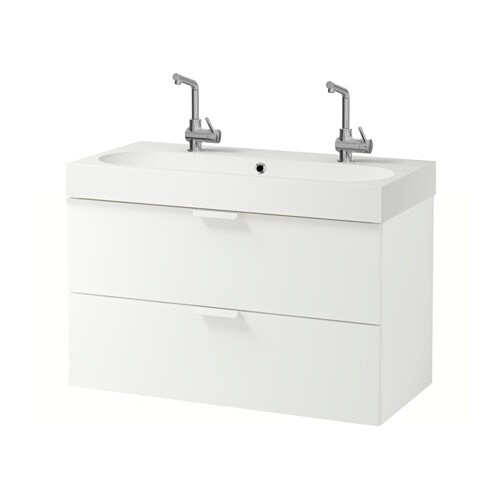 GODMORGON / BRÅVIKEN Sink cabinet with 2 drawers IKEA 10-year Limited Warranty.   Read about the terms in the Limited Warranty brochure.